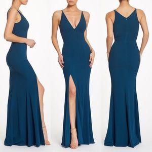 Dress the population iris v neck mermaid gown